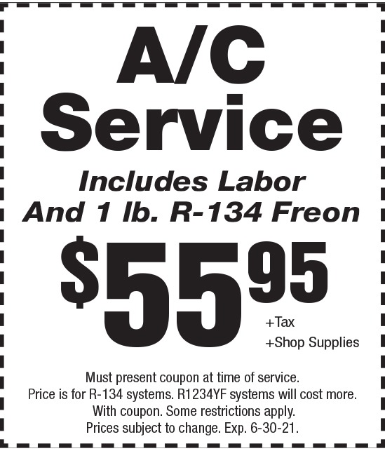 Click to Print- A/C Service Promotion