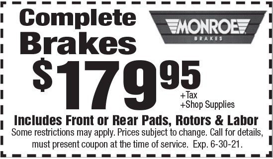 Click to Print- Complete Brakes Promotion