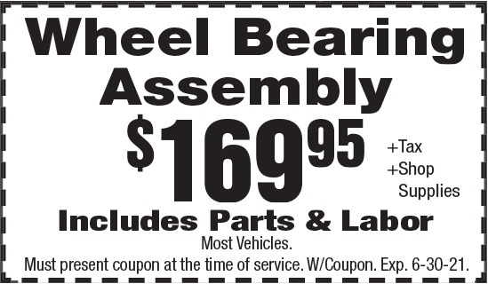 Click to Print- Wheel Bearing Assembly Promotion